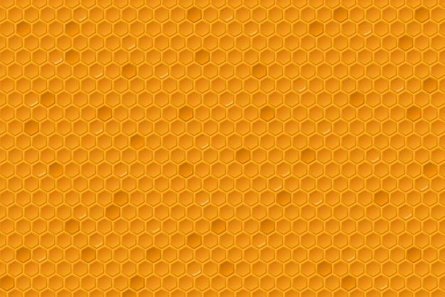 Padrão de pentes de mel. textura de favo de mel, célula de grade hexagonal com mel de cera de abelha geométrica pente.