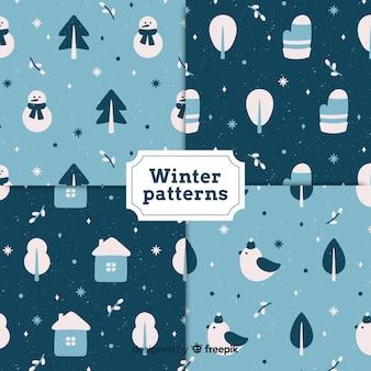 Padrão de pequenos detalhes de inverno