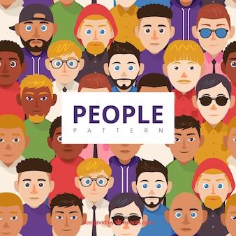 Padrão de pessoas diferentes