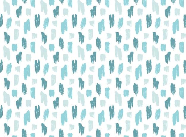 Padrão de pinceladas azuis ásperas sem costura