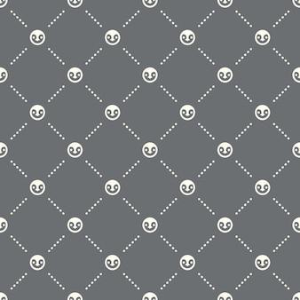 Padrão de pinguim sem costura em um fundo escuro. design criativo do ícone de pinguim. pode ser usado para papel de parede, fundo de página da web, têxtil, impressão ui / ux