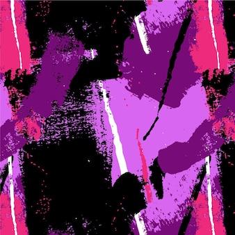 Padrão de pintura abstrata pincelada rosa e roxa