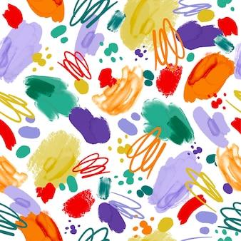 Padrão de pintura abstrata pintada à mão