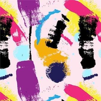 Padrão de pintura com pincelada abstrata