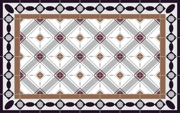 Padrão de piso elementos decorativos vintage. perfeito para impressão em papel ou tecido.