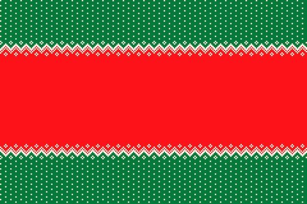 Padrão de pixel perfeito de feriado de natal com um lugar para texto de saudação ou logotipo
