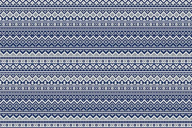 Padrão de pixel sem costura nórdico tradicional do estilo fair isle