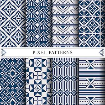 Padrão de pixel tailandês para fazer tecido têxtil
