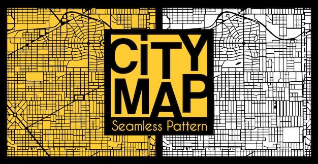 Padrão de plano de cidade sem costura abstrata