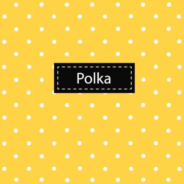 Padrão de polca em fundo amarelo