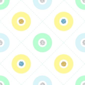 Padrão de ponto de brilho colorido e transparente no fundo branco