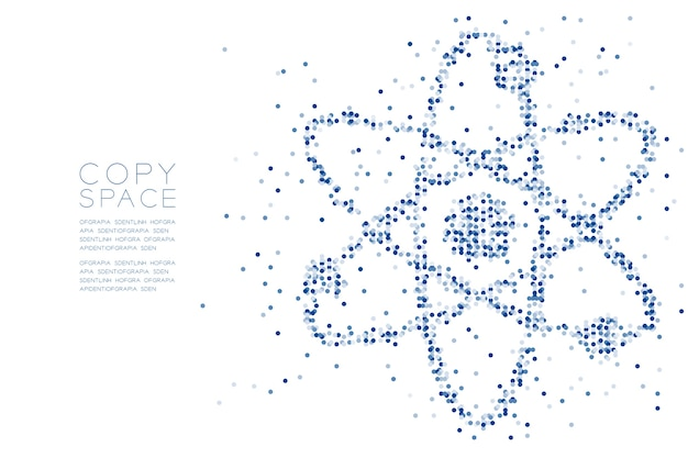 Padrão de ponto geométrico abstrato círculo símbolo de átomo