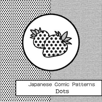 Padrão de pontos de quadrinhos japoneses