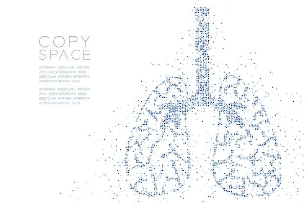Padrão de pontos geométricos abstratos do círculo forma do pulmão