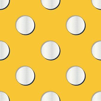 Padrão de pontos retrô, fundo geométrico abstrato nos anos 80, estilo dos anos 90. ilustração geométrica simples