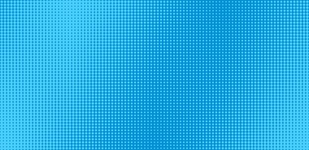 Padrão de pop art. fundo de quadrinhos de meio-tom. textura retro azul dos desenhos animados.