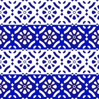 Padrão de porcelana azul e branco