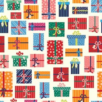Padrão de presentes de natal