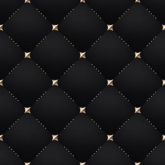 Padrão de preto escuro sem costura luxo