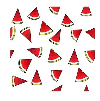 Padrão de pudim de melancia