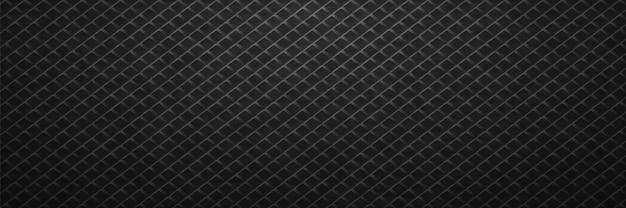 Padrão de quadrados de linhas pretas em fundo de metal.