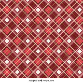 Padrão de quadrados vermelhos