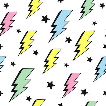 Padrão de raios multicoloridos