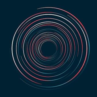 Padrão de redemoinho de linhas de círculos abstratos
