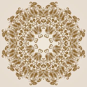Padrão de renda redonda ornamentais, fundo do círculo