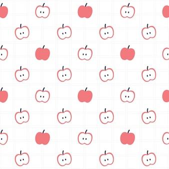 Padrão de repetição de fundo sem emenda da apple, fundo de papel de parede, fundo de padrão sem emenda fofo
