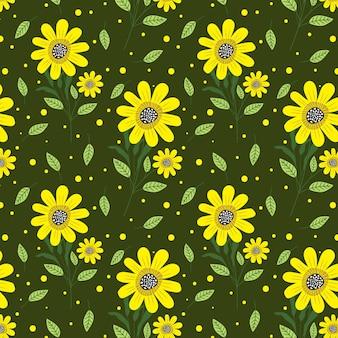 Padrão de repetição floral