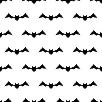 Padrão de repetição sem costura com símbolos de halloween. desenho de silhuetas para o feriado de halloween. para cartão postal, tecido, banner, modelo, papel de embrulho. ilustração em vetor plana.
