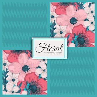 Padrão de retalhos floral sem costura com elementos geométricos