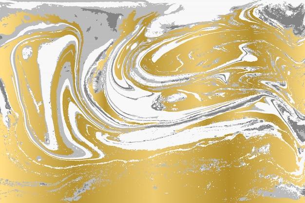 Padrão de ripple de ágata cinza e ouro. fundo de mármore bonito pálido.