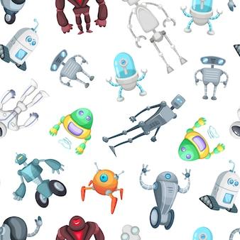 Padrão de robôs dos desenhos animados