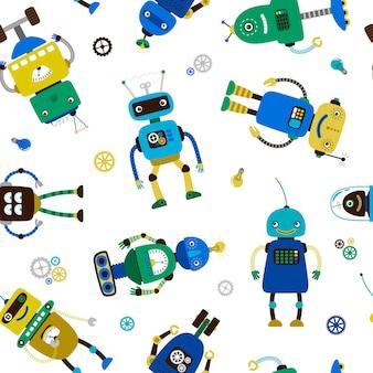 Padrão de robôs engraçados