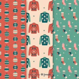 Padrão de roupas de natal