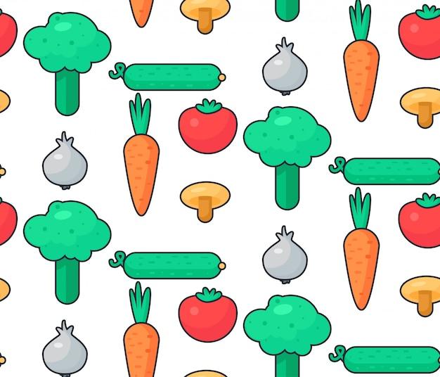 Padrão de salada de vegetais frescos