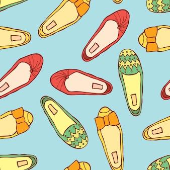 Padrão de sapatos vintage