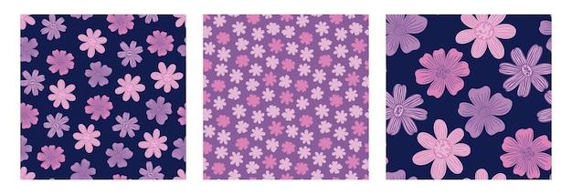 Padrão de seamles com estampa desenhada à mão de textilevintage floral design