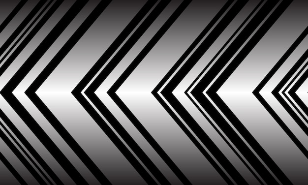 Padrão de seta preta prata abstrata padrão sem costura de direção