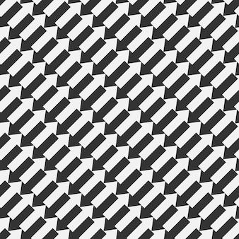 Padrão de seta sem emenda. as setas do vetor abstraem base. cor preto e branco.