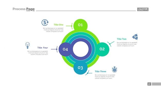 Padrão de slide de estratégia de definição inteligente de metas