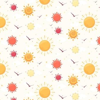 Padrão de sol plano