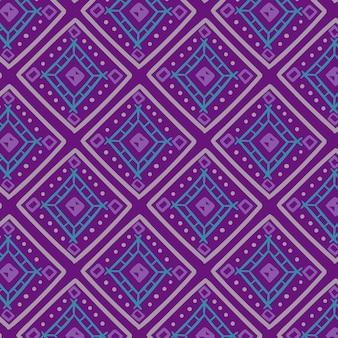 Padrão de songket com formas coloridas frias