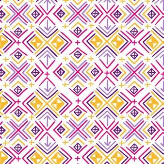 Padrão de songket com formas coloridas