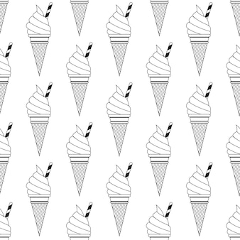 Padrão de sorvete, fundo colorido de verão. ilustração de estilo elegante e luxuoso
