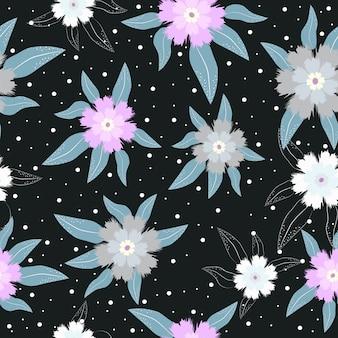 Padrão de superfície floral pastel sem costura