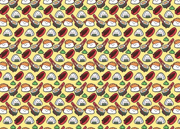 Padrão de sushi sem emenda de vetor