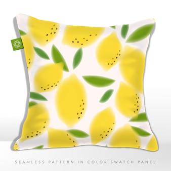 Padrão de tecido ou gráfico sem costura de limão fresco de verão